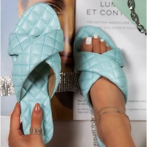 🆕️//The Blair// Teal quilted Sandal